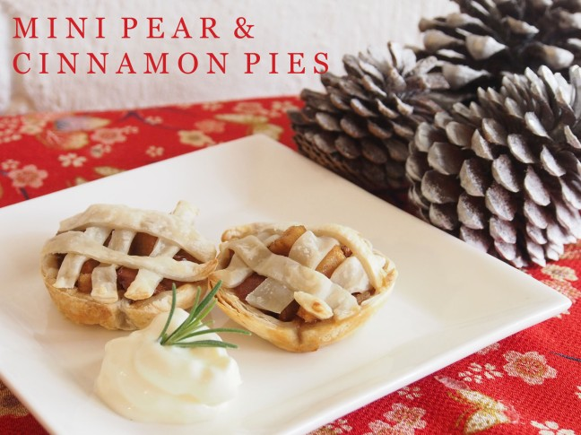 Mini Pear and Cinnamon Pies